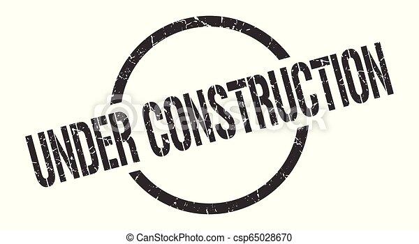 under construction stamp - csp65028670