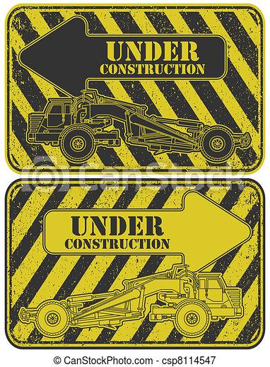 Under construction stamp - csp8114547