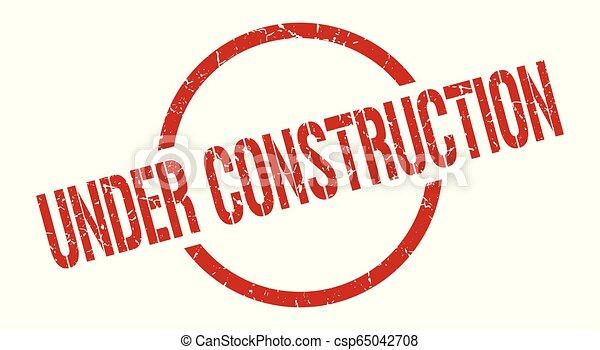 under construction stamp - csp65042708