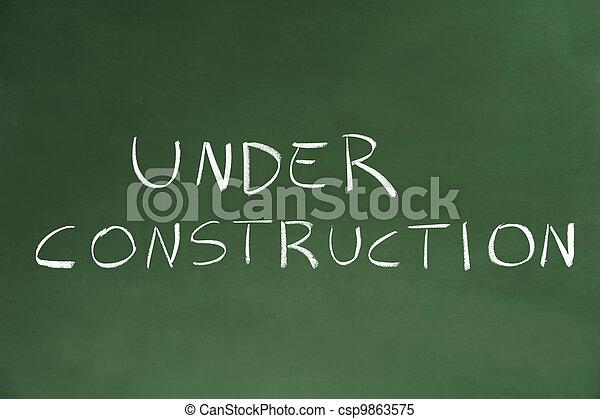 Under Construction - csp9863575