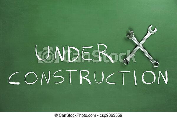 Under Construction - csp9863559