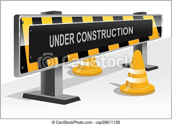 under construction - csp39611138