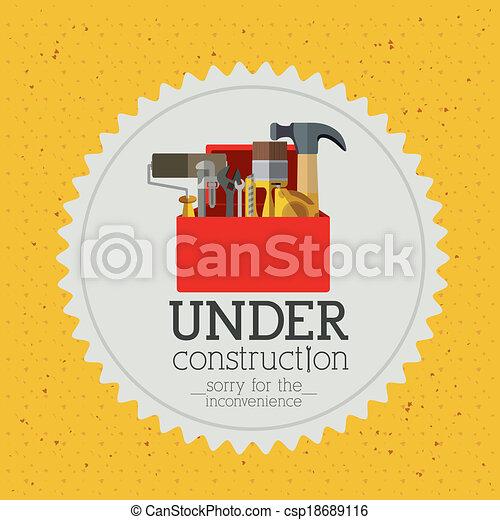 under construction  - csp18689116