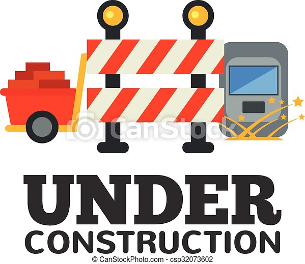 under construction vector flat illustration vector clipart search rh canstockphoto ca construction vector logo free construction vectorielle physique