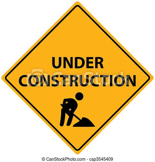 Under Construction Vector - csp3545409