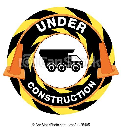 Under Construction Warning - csp24425485