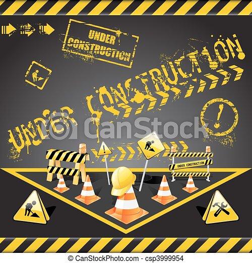 Under construction warning - csp3999954