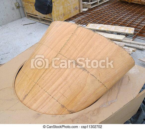 under construction wood formwork - csp11302702