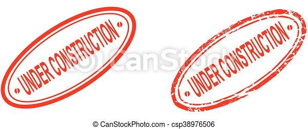 under construction word red stamp - csp38976506