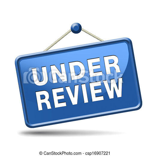 Under review pending application button or icon.