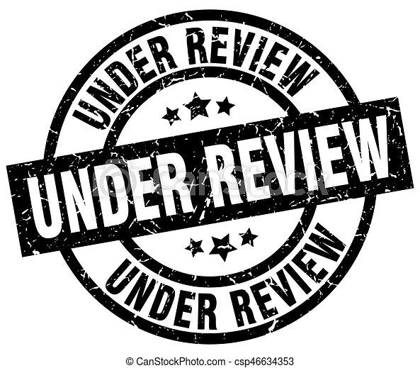 under review round grunge black stamp - csp46634353