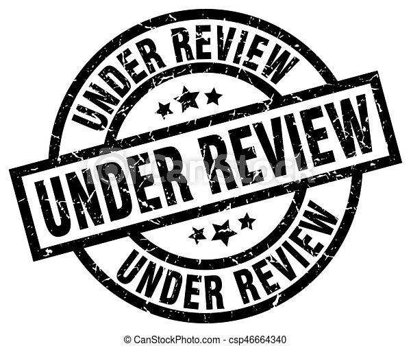 under review round grunge black stamp - csp46664340