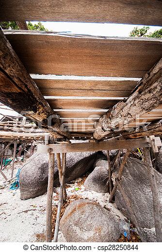Under the wooden bridge - csp28250844