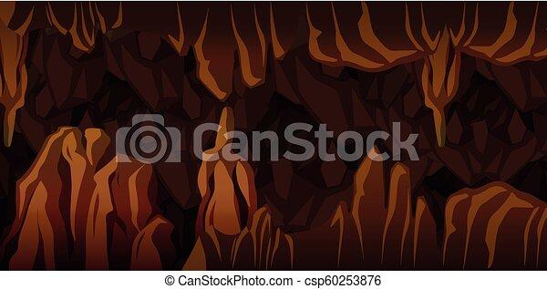 Underground cavern landscape scene - csp60253876