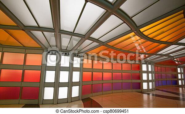 Underground passage in the Chicago O'Hare airport - csp80699451