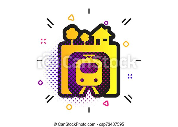 Underground sign icon. Metro train symbol. Vector - csp73407595