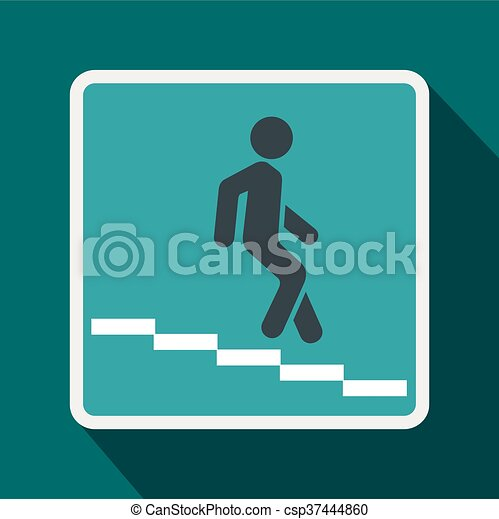 Underpass road sign icon, flat style - csp37444860
