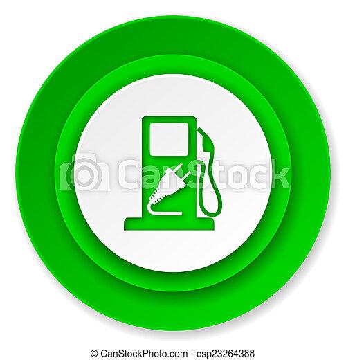 underteckna, drivmedel, ikon, hybrid - csp23264388