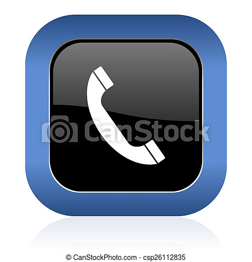 underteckna, glatt, fyrkant, telefon, telefonera ikon - csp26112835