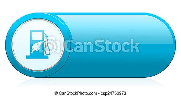 underteckna, ikon, drivmedel, bio, biofuel - csp24760973