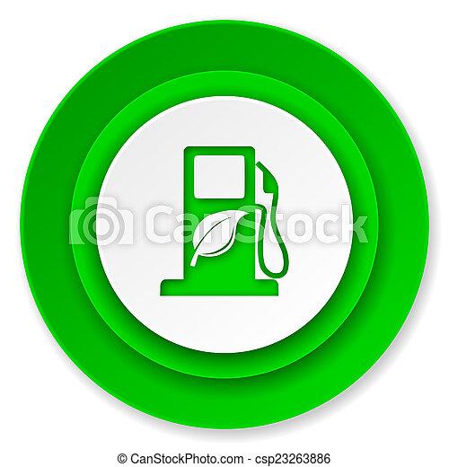 underteckna, ikon, drivmedel, bio, biofuel - csp23263886