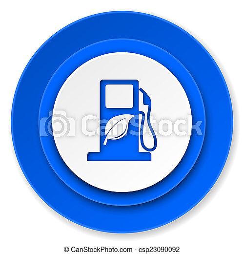 underteckna, ikon, drivmedel, bio, biofuel - csp23090092