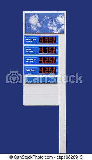 underteckna, pris, gas, isolerat - csp10826915