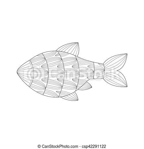 Ungewöhnlich Fisch Umriss Färbung Seite Bilder - Beispiel Business ...