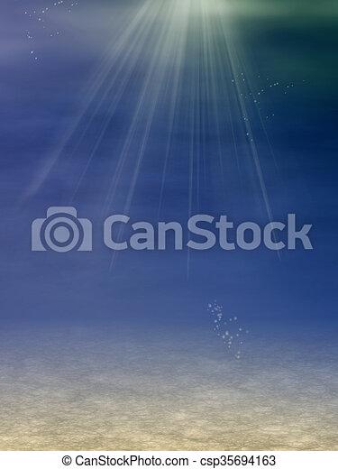 underwater landscape - csp35694163