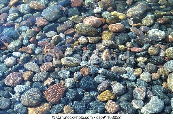 Underwater Pebbles - csp91103032