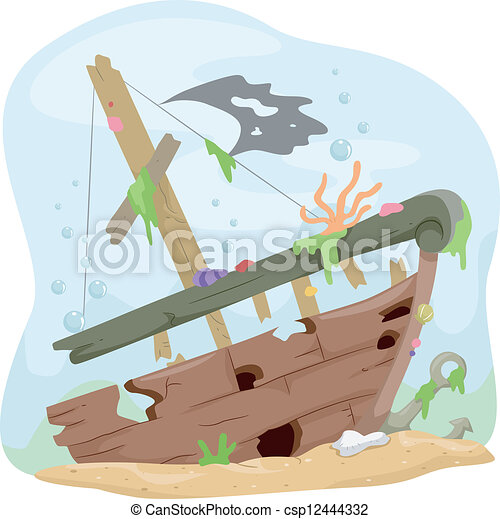 shipwreck clipart and stock illustrations 1 710 shipwreck vector rh canstockphoto com Shipwreck Vector underwater shipwreck clipart