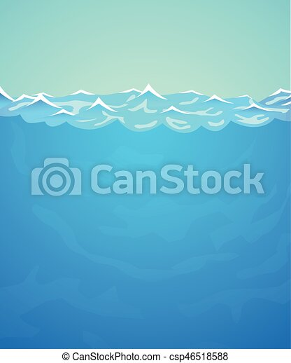 Underwater vector background. sea or ocean water and waves. vector illustration.