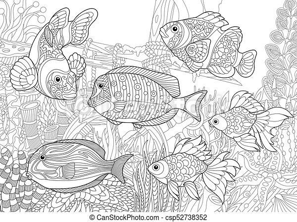Underwater World Of Fishes