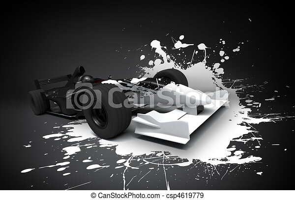 une, formule, éclaboussure, voiture - csp4619779