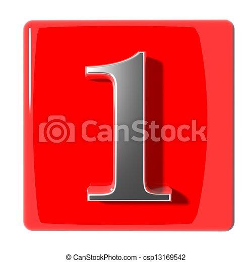 une, nombre, icône - csp13169542