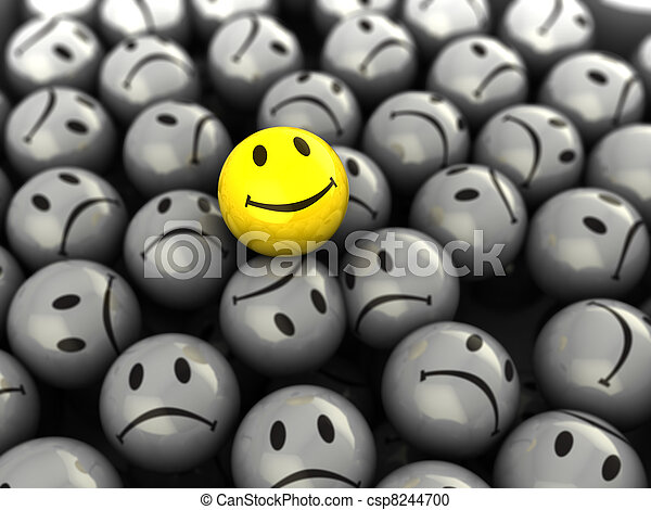 une, visage heureux - csp8244700