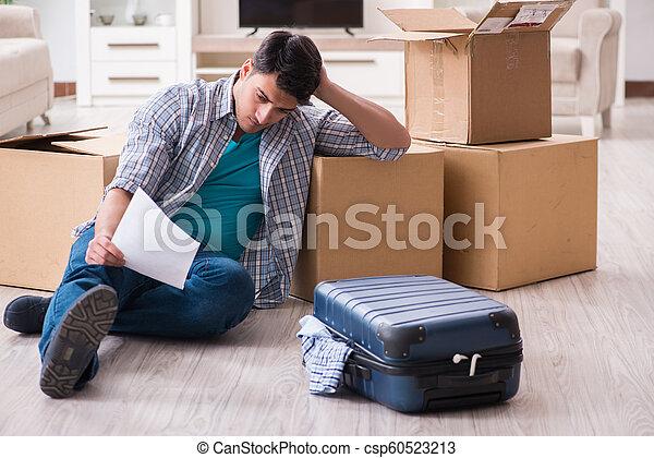 Unemployed man receiving foreclosure notice letter - csp60523213
