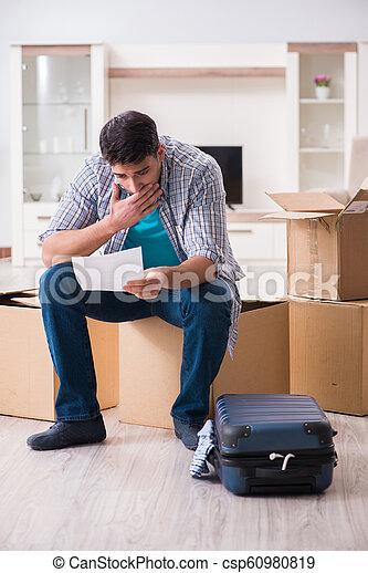 Unemployed man receiving foreclosure notice letter - csp60980819