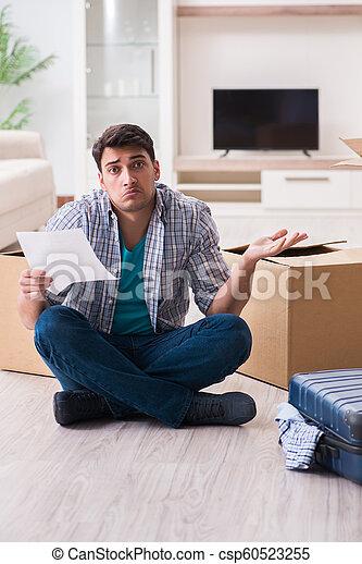 Unemployed man receiving foreclosure notice letter - csp60523255