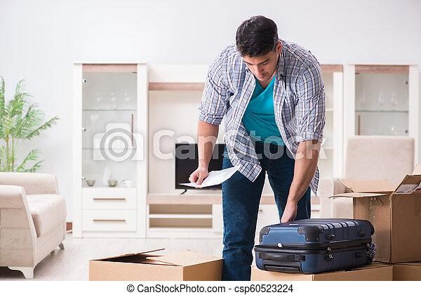 Unemployed man receiving foreclosure notice letter - csp60523224