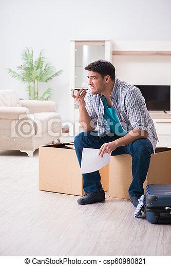 Unemployed man receiving foreclosure notice letter - csp60980821