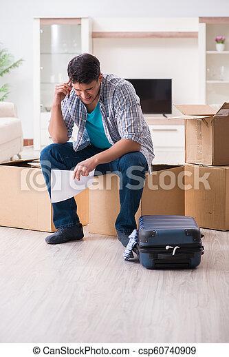 Unemployed man receiving foreclosure notice letter - csp60740909