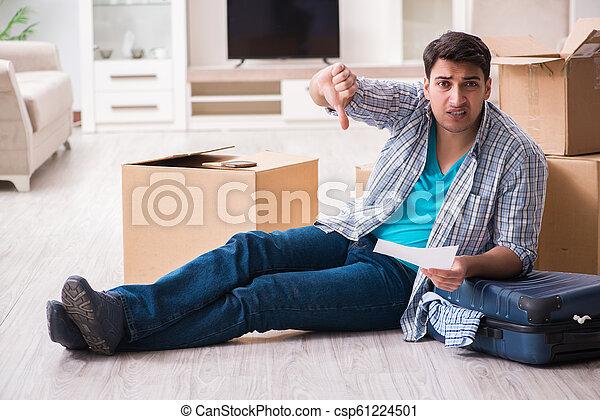 Unemployed man receiving foreclosure notice letter - csp61224501