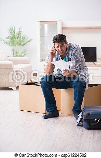 Unemployed man receiving foreclosure notice letter - csp61224502
