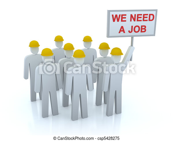 Unemployed Team : We need a job - csp5428275
