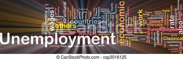 Unemployment word cloud box package - csp3016125