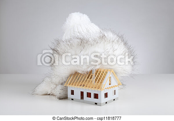 Unfinished house insulation - csp11818777