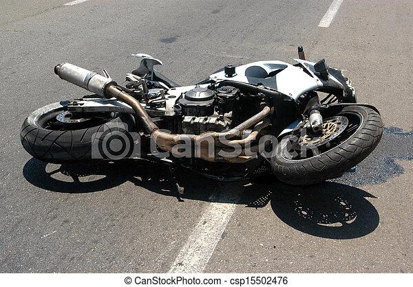 unglück, motorrad - csp15502476
