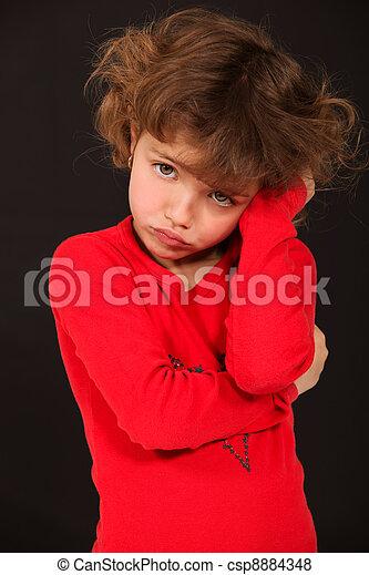 unhappy little girl - csp8884348