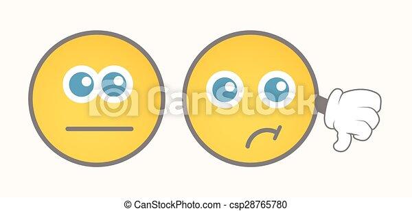 Unhappy Smiley Vector Set - csp28765780